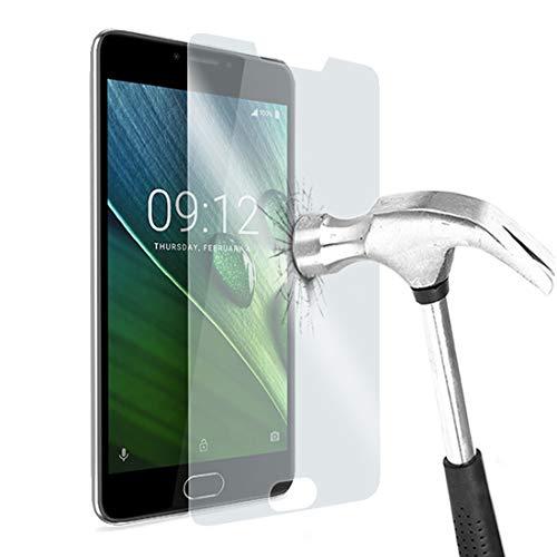 Karylax Bildschirmschutzfolie aus Hartglas Nano flexibel bruchsicher Festigkeitgrad 9H, ultradünn 0,2 mm & 100 prozent transparent für Smartphone Acer Liquid M330 (2 Stück)