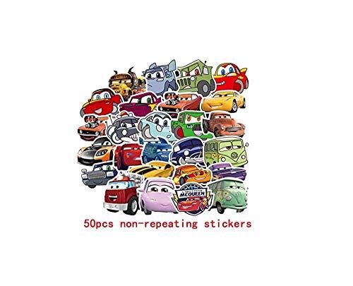 votgl stickersPixar Auto Mcqueen Stickers Niet Herhalen Waterdichte Cartoon Sticker Speelgoed Bagage Gitaar Persoonlijkheid Graffiti Sticker 50 stks