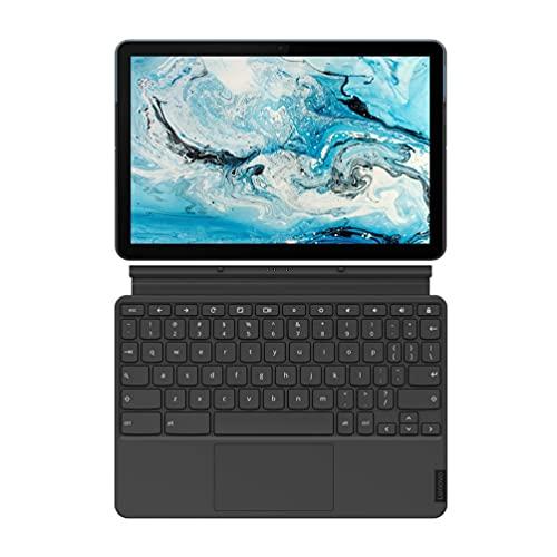 """Lenovo Chromebook IdeaPad Duet Ordinateur Portable 2-en-1 10.1"""" FHD avec clavier détachable (MediaTek P60T, RAM 4 Go, eMCP 128 Go, Chrome OS) Clavier AZERTY Français"""