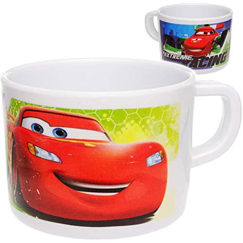 alles-meine.de GmbH Trinkbecher / Henkeltasse -  Disney Cars - Lightning McQueen  - 220 ml - aus Melamin / Kunststoff Plastik - Trinklerntasse - Jungen & Mädchen - Tasse - Kind..