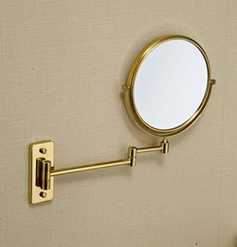 Duizenden spiegels, alle koperen spiegels, badkamerspelden dubbelzijdige vergroting, wandklaptelescoop. goud