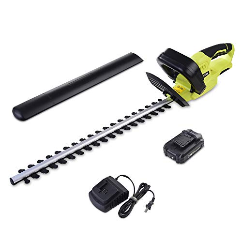 CACOOP 20v 22 inch Cordless Hedge Trimmer with 2000 mAh Battery and Charger,Battery Powered Hedge Trimmer for Men or Women