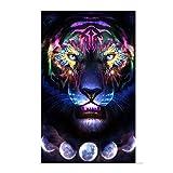 Home Full Diamond Painting 5D Testa di Tigre Orso Soggiorno Camera da Letto Fai da te Pittura Decorativa Da Muro Regalo 50*75Cm 5D Diamante Set Strumenti di Pittura