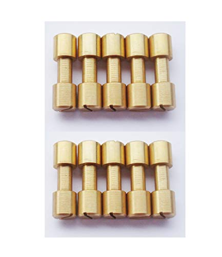 Brass Corby Bolts Fasteners, EDC Knives Maker Pivot Pin Rivets,DIY Knife Handle Studs Screws,Pack of 10 (8mm)