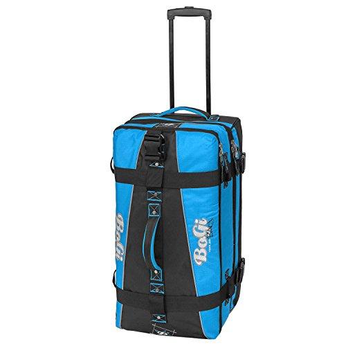 BoGi Bag Reisetasche Rollkoffer Reisekoffer Koffer, 72 cm, 85 L, Blau/Schwarz