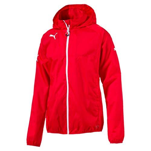 PUMA Jungen Regenjacke Rain Jacket, puma red-White, 116, 653968