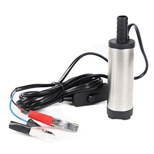30L/Min Dieselpumpe Selbstansaugend Diesel Kraftstoff Wasserpumpe Kraftstoffpumpe Aluminium Wasser Pumpe Tauchpumpe Ölpumpe Für Auto LKW