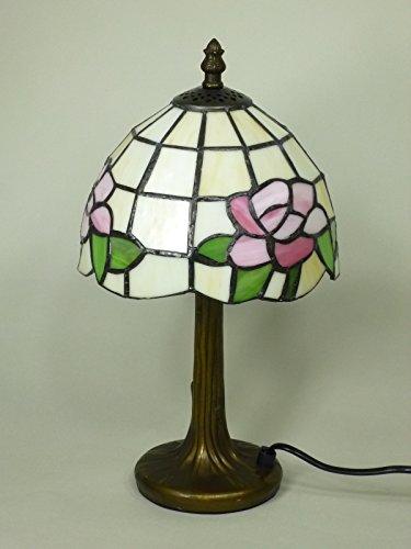 Dapo hochwertige Echtglas Tiffany Tischleuchte Chloe Lampe im Tiffany Stil Leuchte