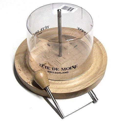 Cortadora de Queso con Capucha para Tete de Moine Queso y Choco Ruleta