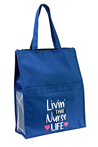 Nursing Tote Bag with Pockets. Nurse Appreciation Gift. Nursing Thank you Gift. Nursing Student Gift.