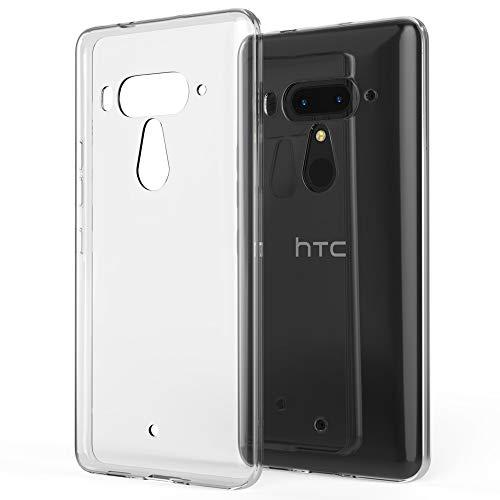 NALIA Handyhülle kompatibel mit HTC U12 Plus, Hülle Ultra-Slim TPU Silikon Gel Case Cover Crystal Clear, Dünne Durchsichtige Etui Handy-Taschen Schutzhülle, Transparent Phone Backcover Bumper