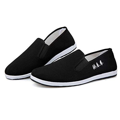 Zapatos de Kung Fu Zapatillas de Artes Marciales Chinas Tradicionales Flexible Cómodo y Ligero (Numeric_43)