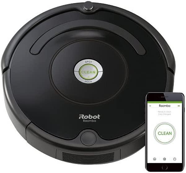 IRobot 公司的 Roomba 675 机器人吸尘器 Wi-Fi 连接与 Alexa 的宠物毛发地毯硬地板自充电