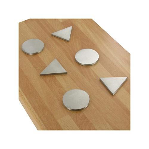 Repose-plat triangle et rond - Epaisseur : 5 mm - Matériau : Inox 304 L - Finition : Brossé - ITAR