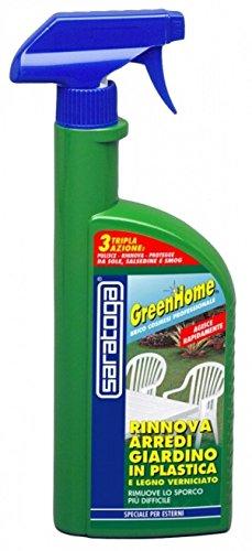 Greenhome Rinnova arredi Giardino in Plastica e legno Verniciato.500Ml Saratoga