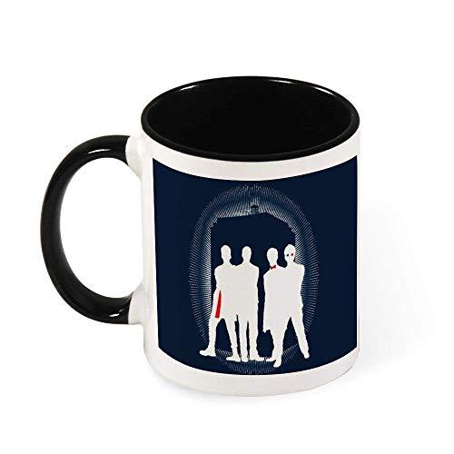 N\A Doctor Who 9th 10th 11th 12th Tardis Silueta Taza de café de cerámica Taza de té, Regalo para Mujeres, niñas, Esposa, mamá, Abuela, 11 oz
