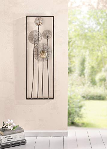 """Decoración de metal para pared """"Flowers"""", con aspecto oxidado"""
