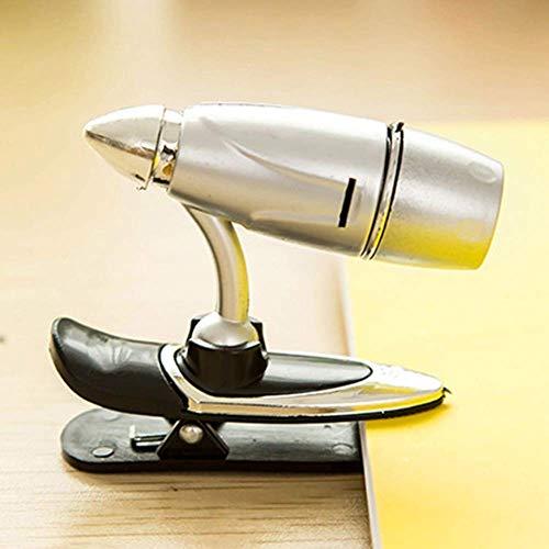 Lámpara de escritorio Lámpara de mesa 1pcs LED mini falda con clip lámpara de cabecera botón simple pinzas de batería luz de escritorio del estudiante lámpara de libro prensa lámpara de lectura lámpar