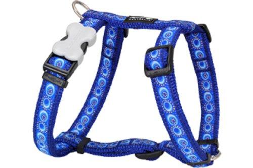 Red Dingo Designer Dog Harness, Large, Cosmos Dark Blue