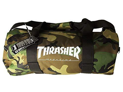 (スラッシャー)Thrasher ボストンバッグ 旅行鞄 カバン Mag Logo Skatebag Duffel Bag Camo(カモフラージュ/迷彩)