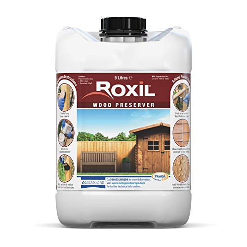 Roxil Wood Preserver (5 Litre) Clear, Odourless Formulation Providing Protection Against Mould, Dry and Wet Rot, Fungal Attack and Woodworm