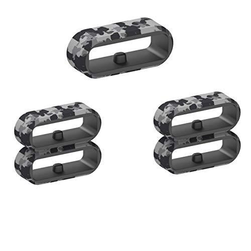 RuenTech Cierre compatible con Amazfit T-Rex/Amazfit GTS/Amazfit Bip/Amazfit Bip Lite/Amazfit GTR 42 mm pulsera Loop Hoop Keeper Ring accesorios (gris camuflaje)
