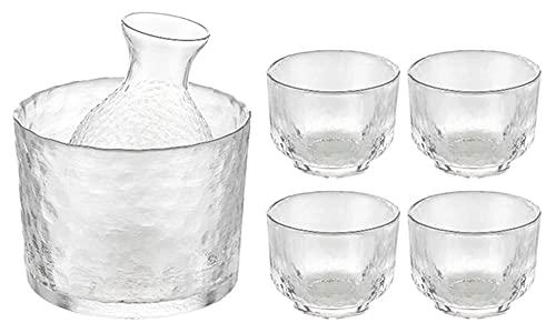 Whisky gafas vino vino japonés sake conjunto martillo patrón de cristal oro...