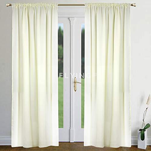FKL mooi kant-en-klaar gordijn venstergordijn gordijn set van 2 crème zwart grijs plooiband vele varianten 250 x 145 LB-250