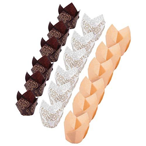MILISTEN 150 Pz Pirottini per Muffin Tazzine per Cupcake Tulipano Involucri per Cupcake Pirottini per Muffin per Feste di Compleanno Matrimoni Baby Shower