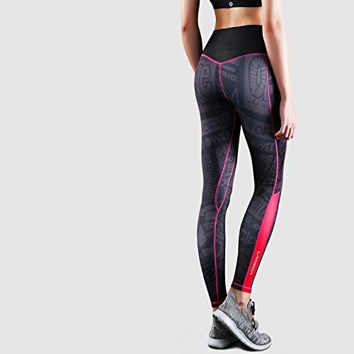 lxylllzs Laufhose Damen mit Tasche lang - Leggins,Sexy Fitnesshose mit hoher Taille, pfirsichfarbene Yogahose-5_XS, Fitnesshose Laufhose 3/4 Training Tights mit