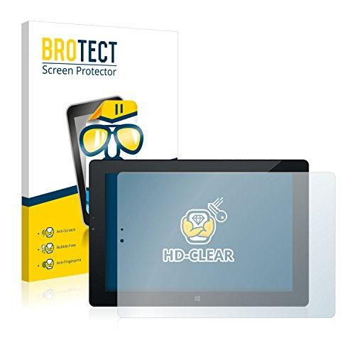 BROTECT Schutzfolie kompatibel mit Odys Winpad V10 (2 Stück) klare Bildschirmschutz-Folie