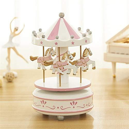 Houten Paard van de carrousel Music Box Classical Music Box Verjaardag Cadeaus for kinderen Party Decorations QPLNTCQ (Color : A, Size : Free)