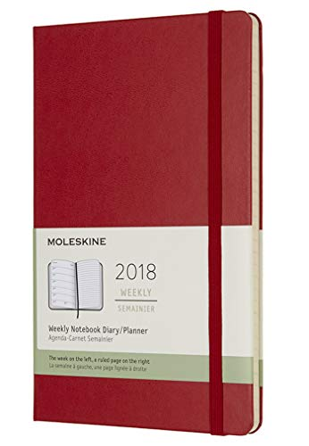 Moleskine Classic 12 Month 2018 Weekly Planner, Hard Cover, Large (5'...