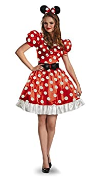 Disney Disguise Women s Red Minnie Mouse Classic Costume Red/Black/White X-Large