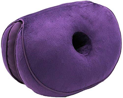 AYCYNI Comfort Cushion Folding Pillow, Portable Ergonomic Contoured Seat, Chair Pad for Car Truck Home Office Computer,Green,Latex,Purple,Plush