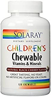 Solaray Children's Chewable Vitamins & Minerals, Black Cherry Flavor, 120 Count