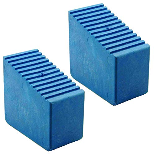 Leiterfüße Gummifüße für Holzstehleitern 2 Stk. 3-8 Sproßen INNENMAßE 56x23mm Blau HB40