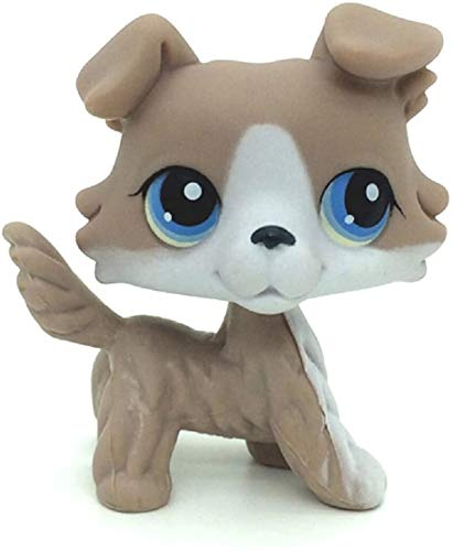 N/N Littlest Pet Shop, LPS Toy Collie Dog Grey and White Figure Toy