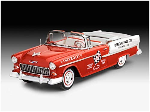Revell 1955 Chevy Indy Pace Car Chevrolet REV-07686, Mehrfarbig, 1/25