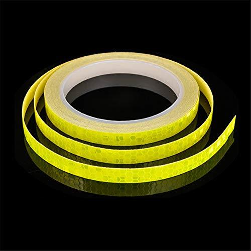 Pegatinas Reflectantes para Bicicletas Multifuncional Pegatinas Reflectantes De Bicicleta De MontañA Equipo De Seguridad Nocturna Yellow,Freesize