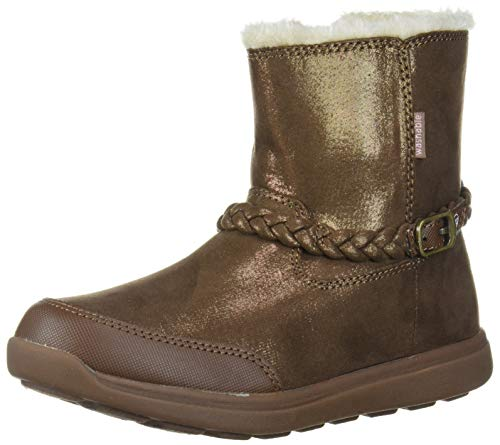 Stride Rite Baby-Girl's Ebony Ankle Boot, Brown, 6 W US Toddler