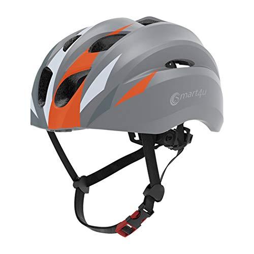 Casco De Bicicleta Inteligente, Casco De Ciclismo De Montaña Bluetooth Cascos De...