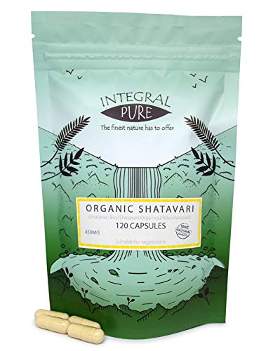 Shatavari (Veggie) Capsules   Organic Certified   450mg  Asparagus Capsules (30)