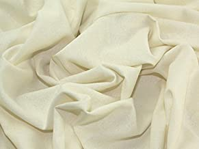 Minerva Crafts Natural Silk Noile Fabric Cream - per metre