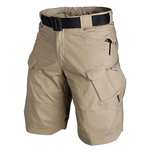 Lightweight Cargo Tatical Zipper Pockets Camping Travel Shorts 5516 Khaki 29 Men Hiking Casual Quick Dry Short