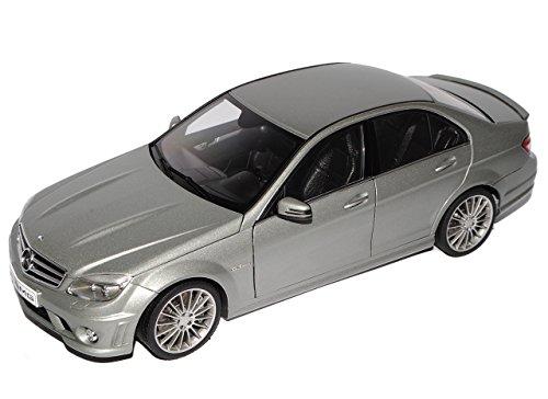 AUTOart Mercedes-Benz C-Klasse C63 AMG Limousine Grau W204 Ab 2007 76275 1/18 Modell Auto mit individiuellem Wunschkennzeichen