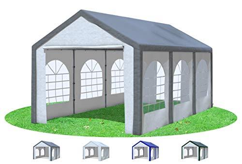 Stabilezelte Partyzelt 3x6 m Modular Pro PE 240 g/m² wasserdicht inkl. Seiten Festzelt Gartenzelt Grau Weiss