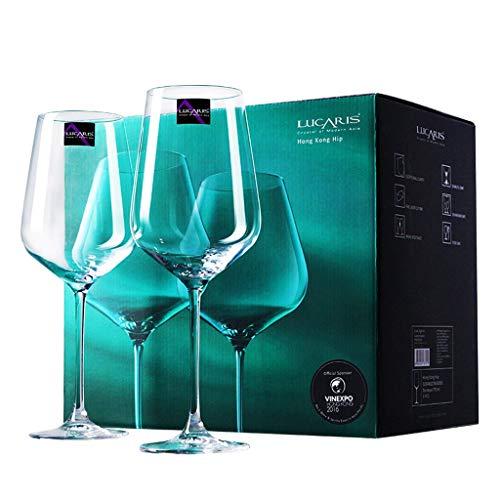 Verres à Vin En Cristal - Ensemble de 400 À 900 Ml - Grand Verre à Vin Rouge Ou Blanc Fabriqué à La Main - Verre En Cristal 100% Sans Plomb - Dégustation Professionnelle - Bourgogne - Pinot Noir - Bor