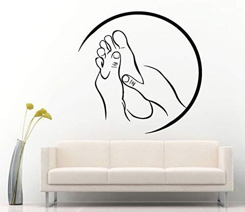LovelyHomeWJ Spa Massage Zeichen Aufkleber Vinyl Aufkleber für Salon Relax Pamper Beauty Rest adesivo de Parede Moderne Raumdekoration Aufkleber 57x56 cm