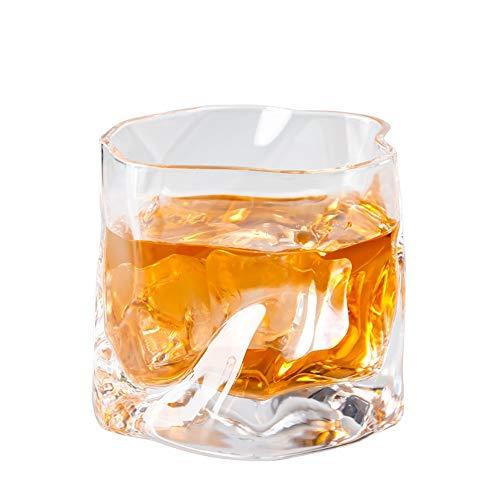 ChengBeautiful Vaso De Whisky De Cristal Crystal Glass Bar Irregular Whisky Licor Vidrio Grueso Cristal de 300 ml de Fondo (Color : C, Size : One Size)